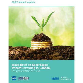 Issue Brief on Seed-Stage Impact Investing